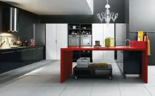 Black White And Red Kitchen Ideas Black Red White Modern Kitchen Interior Design Ideas