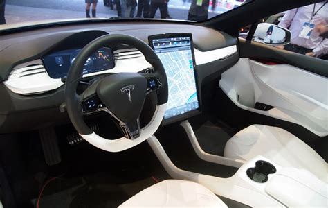 tesla inside tesla model x suv to electric car future mycarzilla