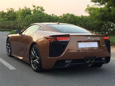 new lexus lfa what would you say to a brown lexus lfa for 645k