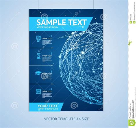 vector abstract sphere brochure design templates stock
