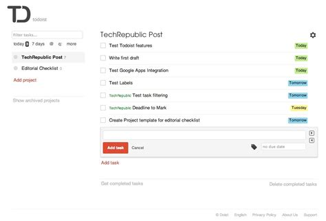 todoist project templates news tips and advice for technology professionals