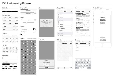 ios wireframe template ios 7 wireframe kit free ui elements all free web resources for designer web design hot