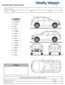 free vehicle inspection sheet template vehicle damage inspection form template images