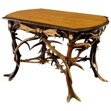 antler table l antler table l arthur court quot faux antler quot dining