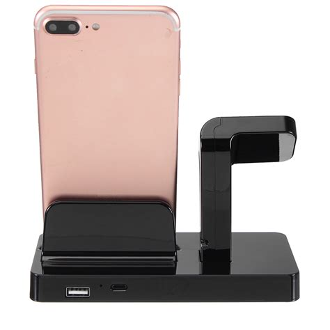 smart accessories 2 in 1 charging dock stand station charger holder for apple