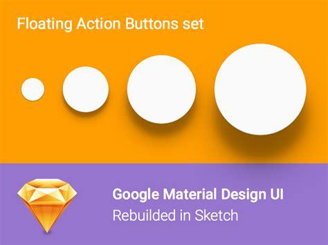 google design resources google material design ui floating action buttons set