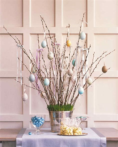 easter decorations ideas easter egg tree martha stewart
