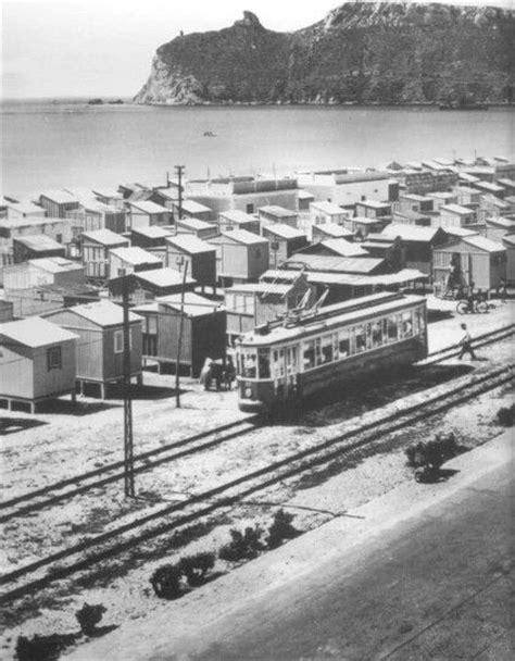 di sassari cagliari i casotti poetto ed il tram anni 50 cagliari