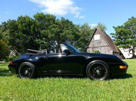 porsche 993 wheels for sale purchase used 1995 porsche 993 cabriolet black