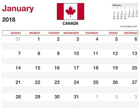 Canada 2018 Calendar 2018 Calendar Canada Easter 2018 Calendar With Holidays
