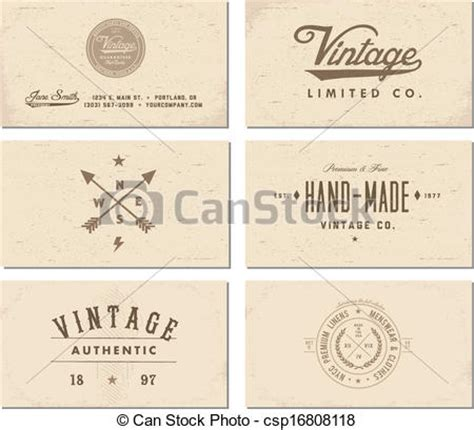 Vintage Business Cards Templates Free by Vector Vintage Business Card Template Set Easy To Edit