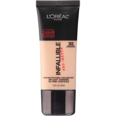 target l shades medium l oreal 174 infallible pro matte foundation 103