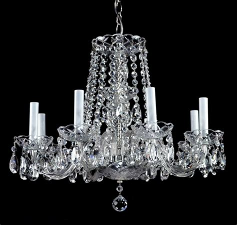 Antique Crystal Chandelier Light Waterford Style Vintage Antique Glass Chandelier