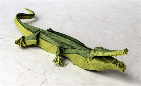 Alligator Origami - iguana fold these 28 awesome origami lizards