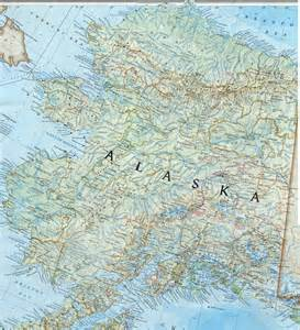 Detailed Map Of Alaska by Large Detailed Topographical Map Of Alaska Alaska Large