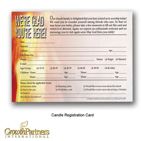 registration cards for churches template visitor registration cards growthpartners