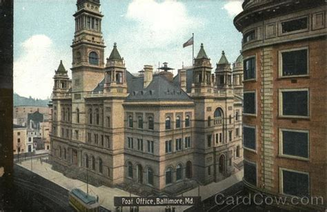 Post Office Pikesville by Post Office Baltimore Md Postcard