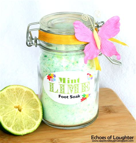Appellation Spa Grape Seed Soak by Mint Lime Foot Soak Free Printable Tag Echoes Of Laughter