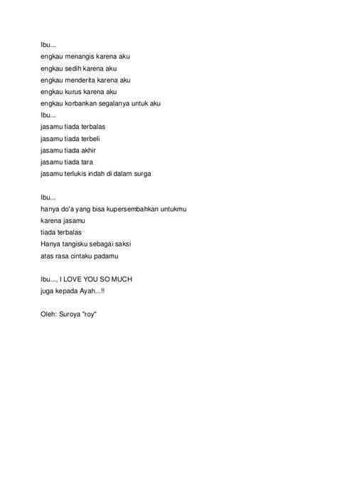 Peptisol Untuk Ibu Puisi Sedih Untuk Ibu Dan Ayah 54707 Vizualize