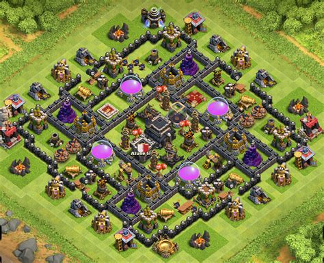 layout coc th9 anti giant misguided minds th9 anti hog giant bases
