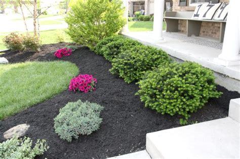 mulch bed ideas triyae com black mulch backyard ideas various design