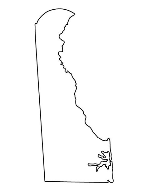 template of state delaware pattern use the printable outline for crafts creating stencils scrapbooking and