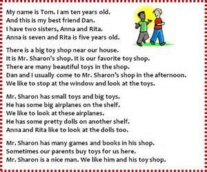 english exercises reading comprehension toys