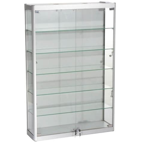 wall mounted display cabinets 800mm w wall mount glass display cabinet led wm8 12