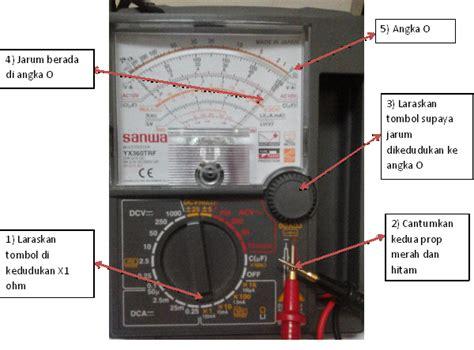 Multitester Terbaru isea elektrik cara menggunakan multimeter analog