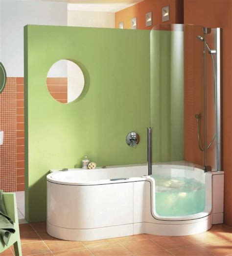 Bath And Shower In Small Bathroom Walk In Tub Shower Combo For Small Bathroom Home Interior Exterior