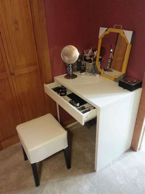 ikea white vanity desk decorating lovely ikea micke desk for study or workspace