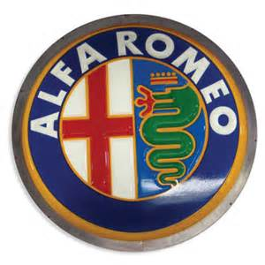 1406 illuminated alfa romeo sign lot 1406