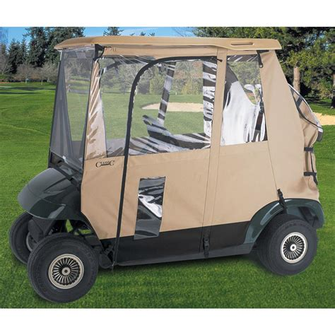 3 Sided Golf Cart Enclosures by Classic 174 Fairway Deluxe 3 Sided Golf Cart Enclosure
