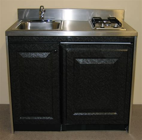 custom kitchen design with compact sink gas stove units