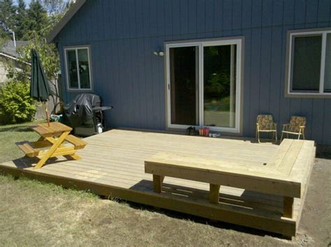 deck with bench built in deck benches built in deck bench finished deck