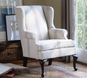 Queen Anne Sofa Slipcover Gramercy Wingback Chair Modern Armchairs And Accent