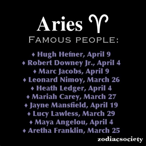 aries famous people this tumblr page is awesome