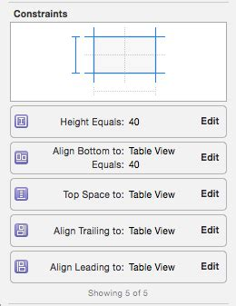 uitableview uiview encapsulated layout height ios unable to change uitableview height constraint when