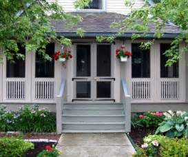 Screen Porch Designs For Houses by Screened Front Porches On Pinterest Enclosed Front
