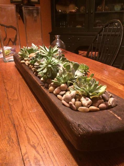 succulents   bread bowl centerpiece dough bowl