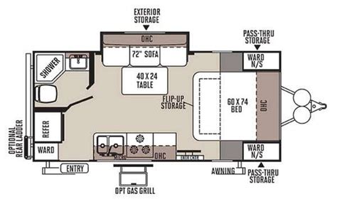 rockwood trailers floor plans rockwood travel trailer floor plans meze blog