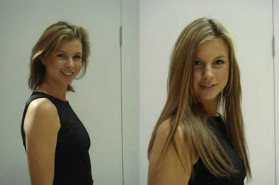 before and after long to short hair hair extensions before and after