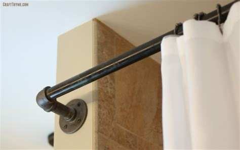 industrial style curtain rods industrial decor with black iron pipe part i style curtain