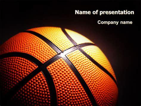 basketball ball on nba colors floor presentation template