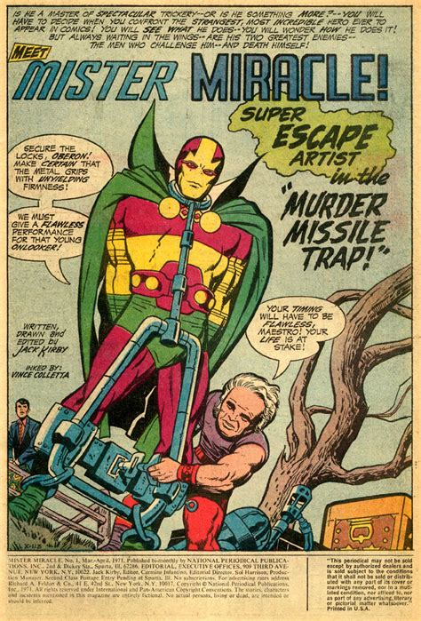 mister miracle by kirby new edition mister miracle steranko kirby dynamics