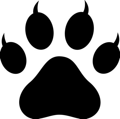 panther paw print clip clipart best clipart best black panther paw prints clipart best