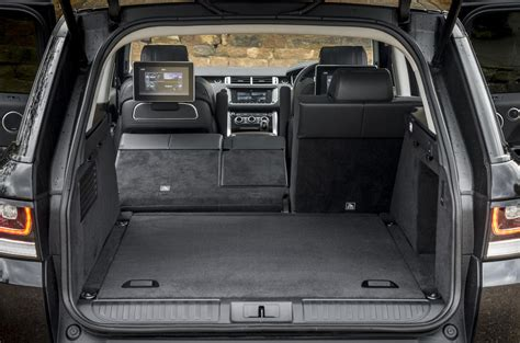land rover discovery sport trunk space range rover sport review 2017 autocar