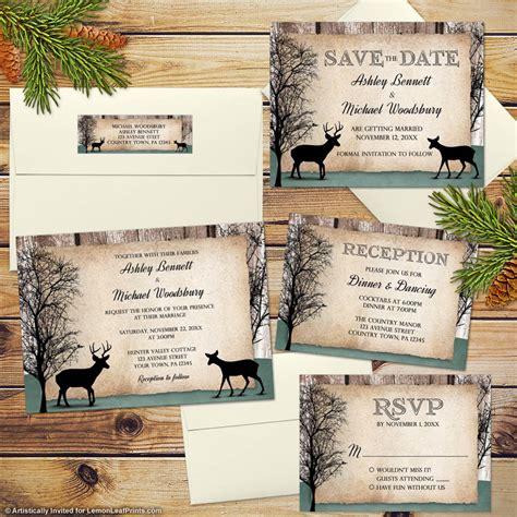 Woodland Wedding Invitations