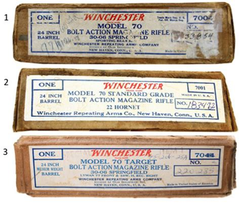 Jarum M1 11 Blue Label model 70 boxes winchester rifles forumwinchester collector