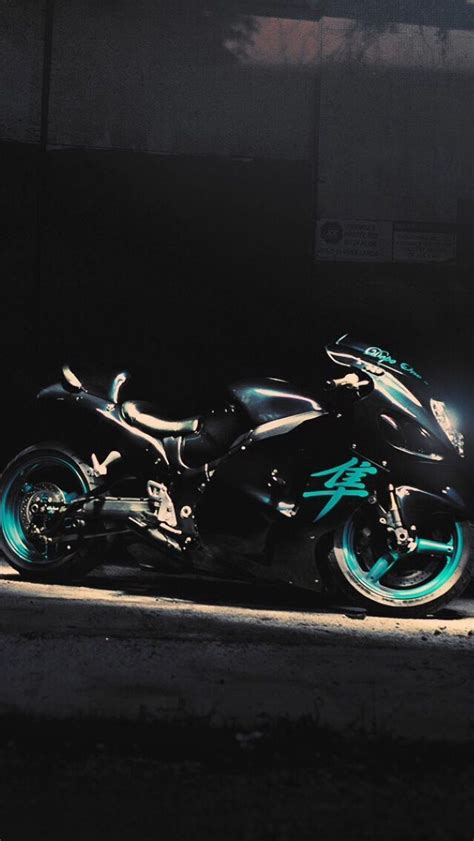 Black And Teal Motorcycle Motorcycle Car Related